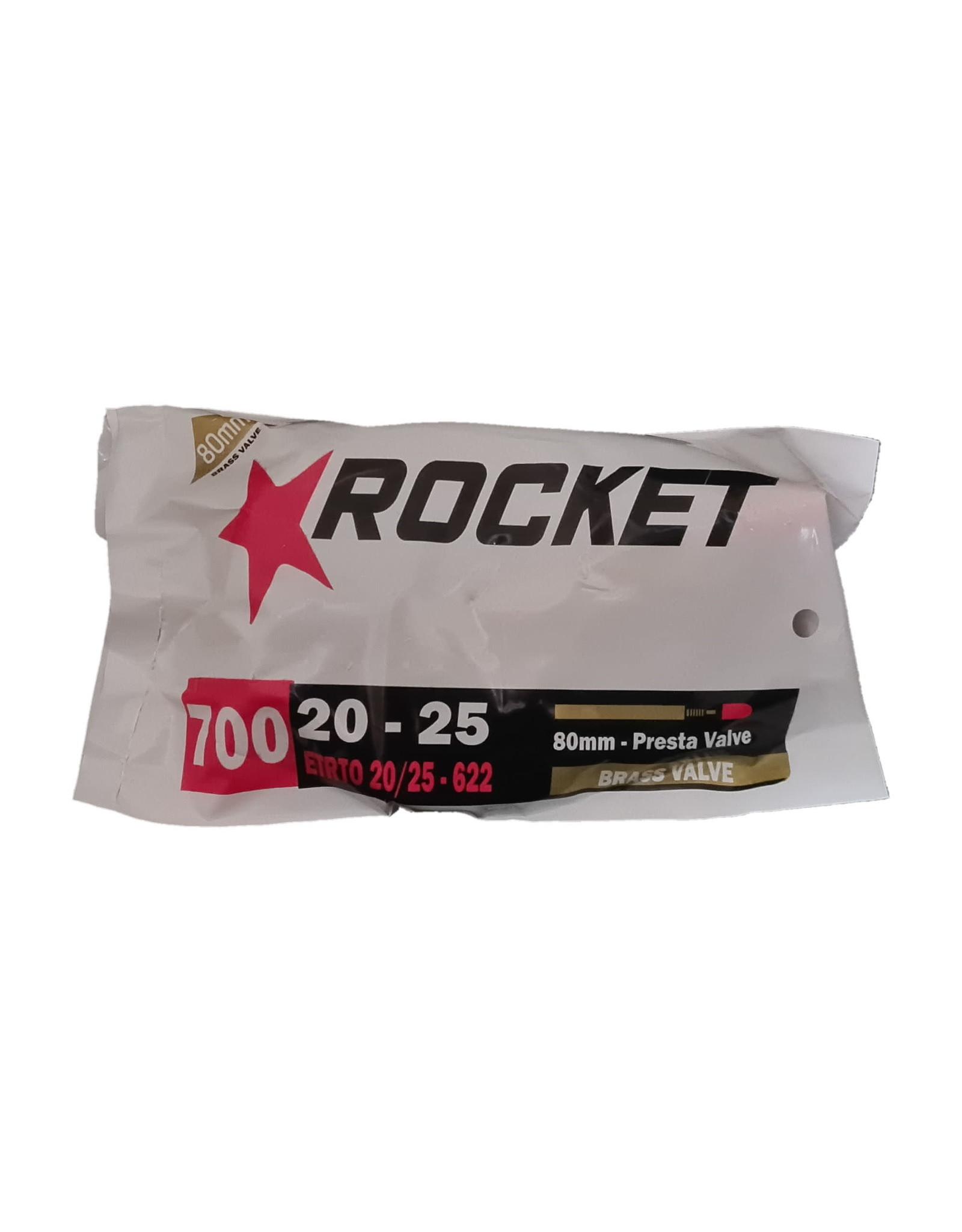 Rocket Butyl Inner Tube 700x20-25mm Brass Presta Valve