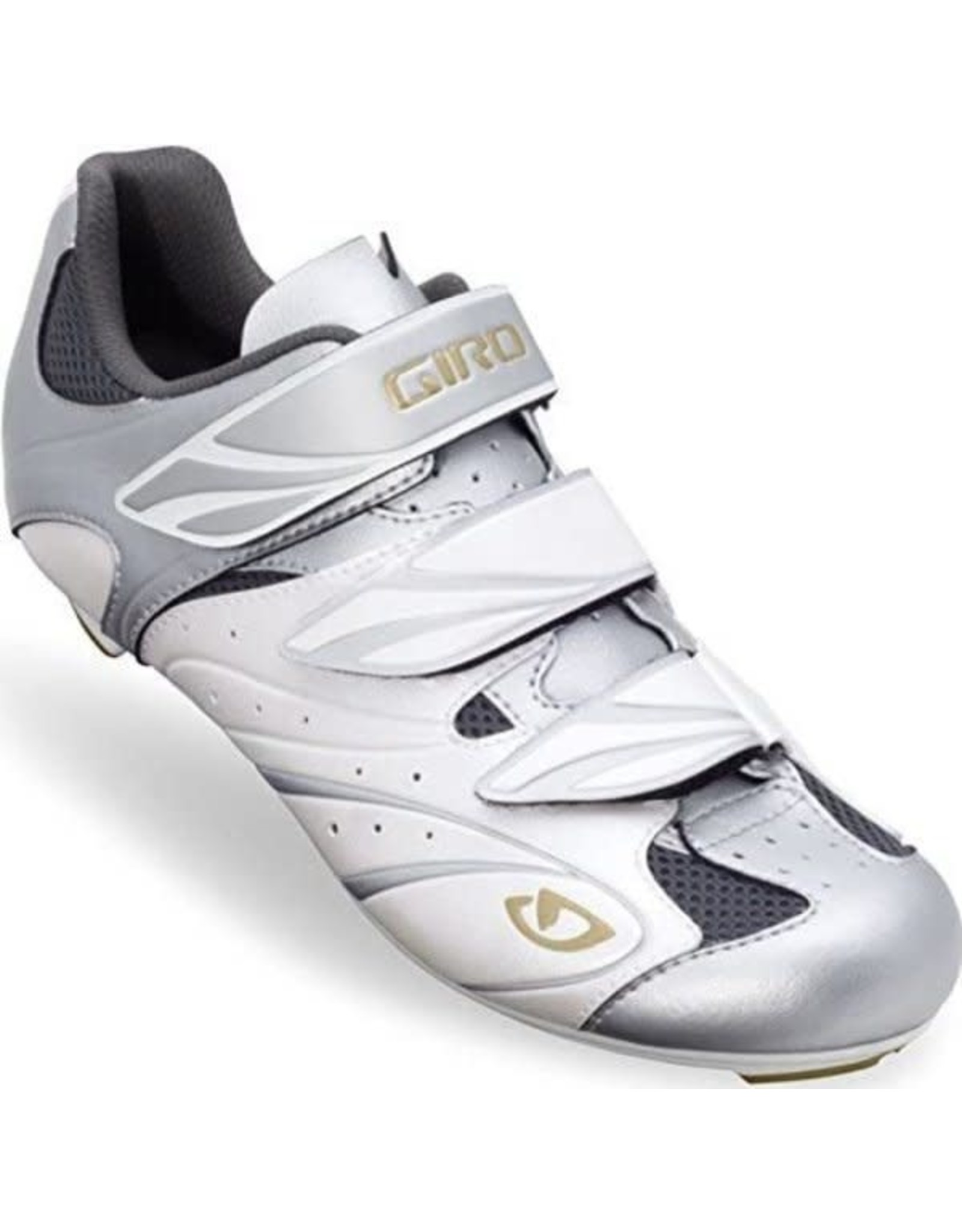Giro Sante Womens Cycling Shoes (New, Old Stock) WHITE/SILVER/GOLD 37