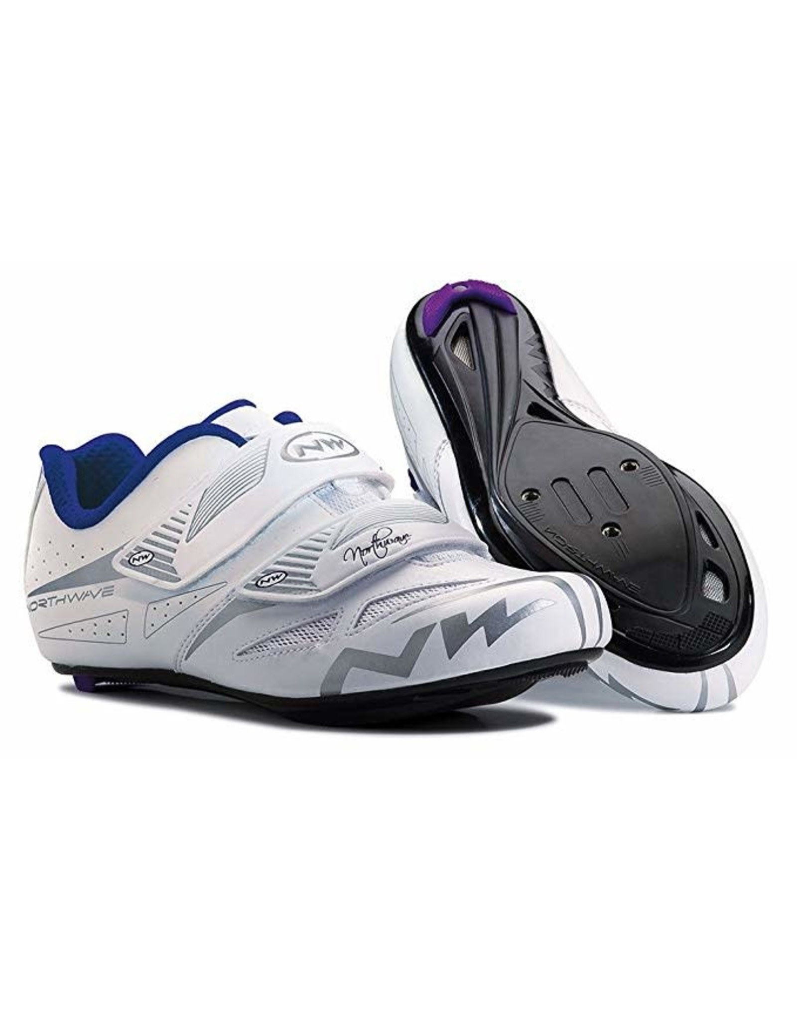 Northwave Eclipse Evo Womens Road Cycling Shoe  (New Old Stock) White/Gray 41