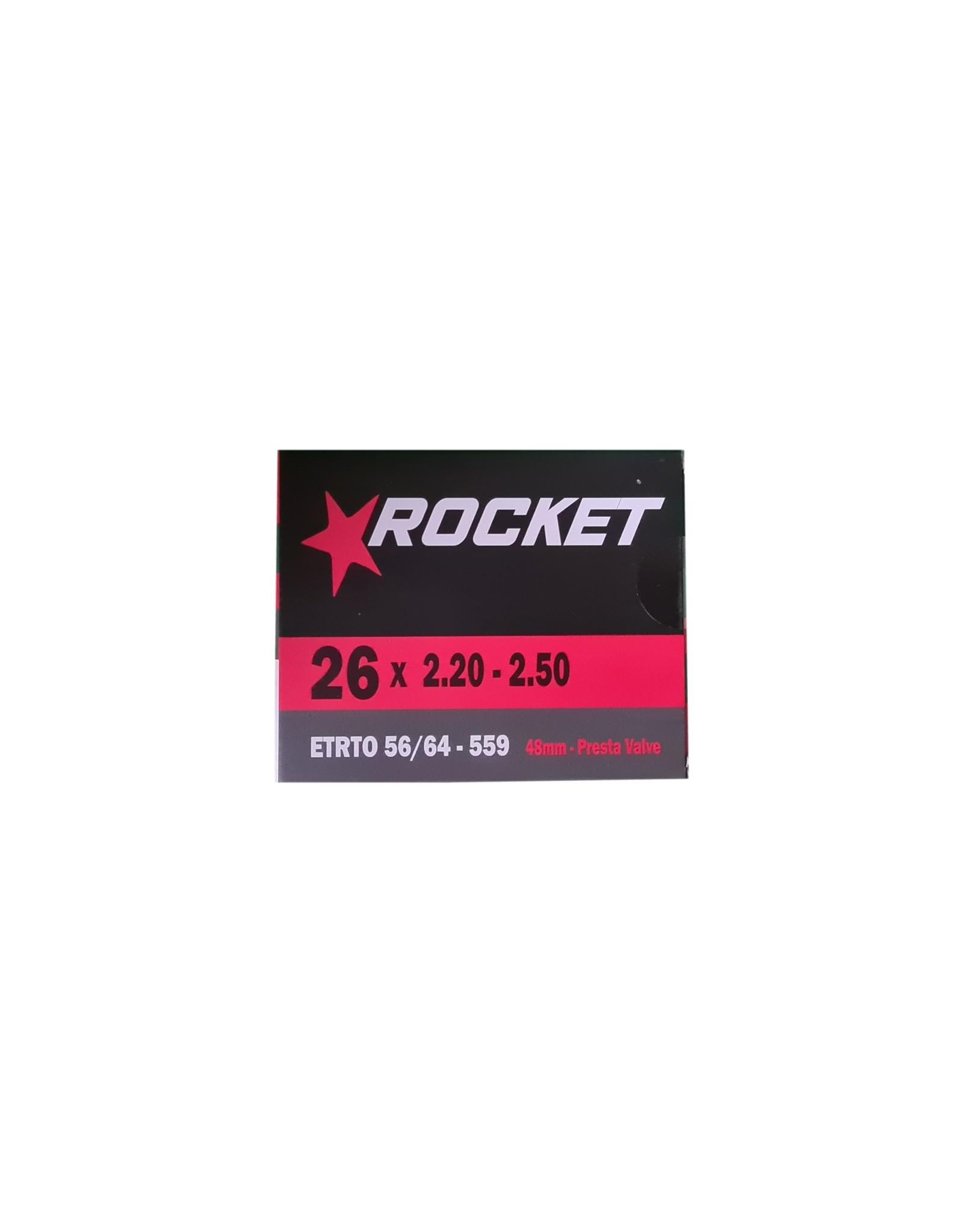 "Rocket Butyl Inner Tube 26 x 2.20-2.50"" Presta Valve 48mm"