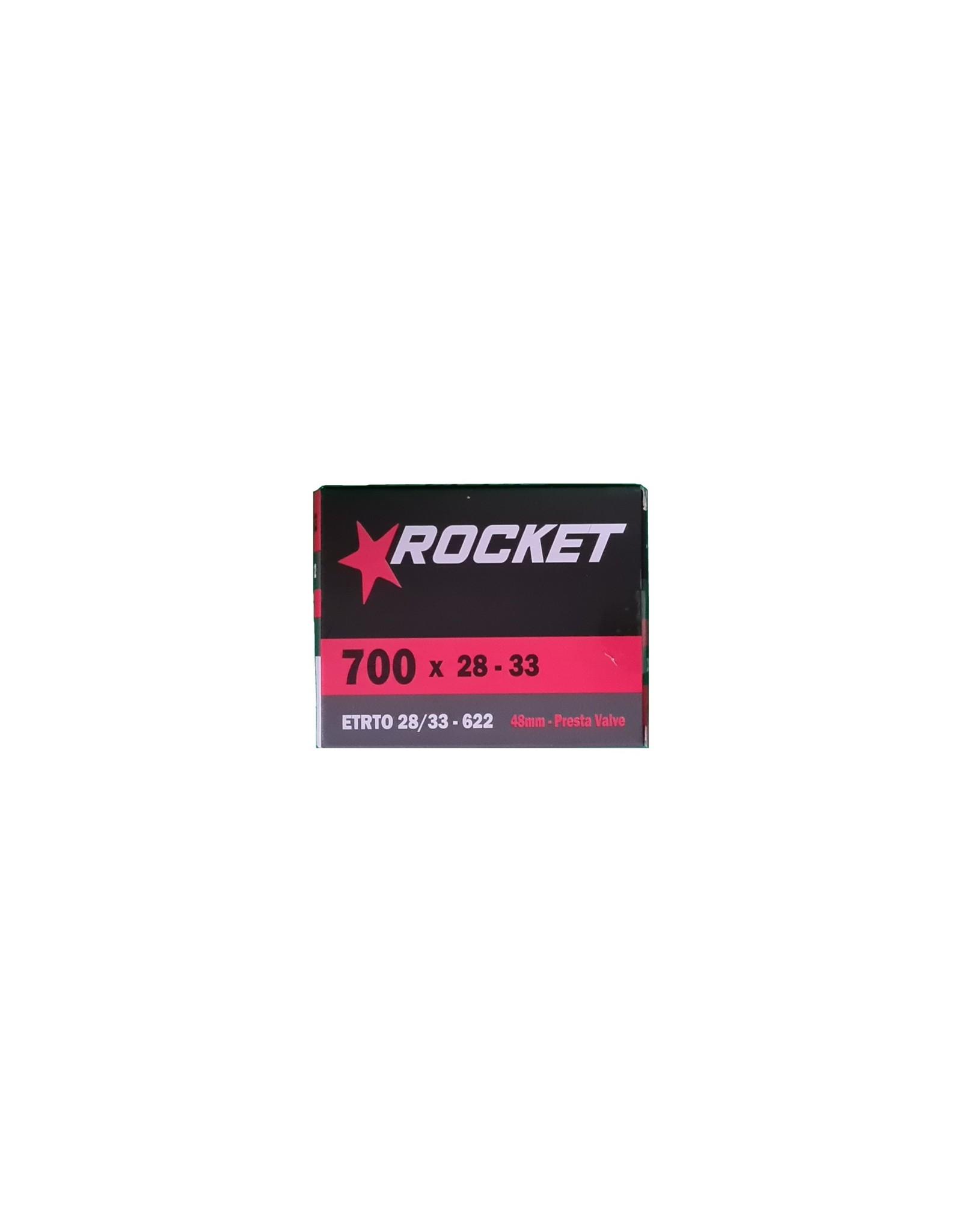 Rocket Butyl Inner Tube 700c x 28-33mm Presta Valve 48mm