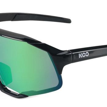 Koo Demos Black Green Mirror Sunglasses