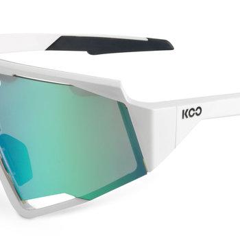 Koo Spectro White Light Green Sunglasses