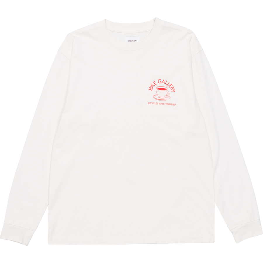 Bike Gallery LS Tee - Bicycles & Espresso - Off-White