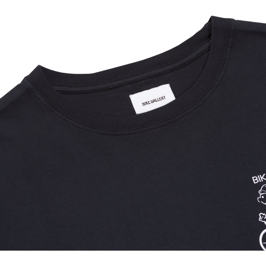 Bike Gallery Tee - Open 7 Days - Washed Black