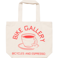 BG Bicycles & Espresso Natural Canvas Tote