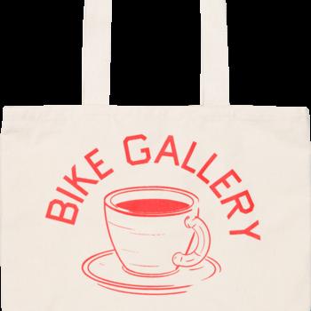 Bike Gallery BG Bicycles & Espresso Natural Canvas Tote