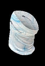 Toadfish UV Gaiter - White w/Nautical Chart Pattern