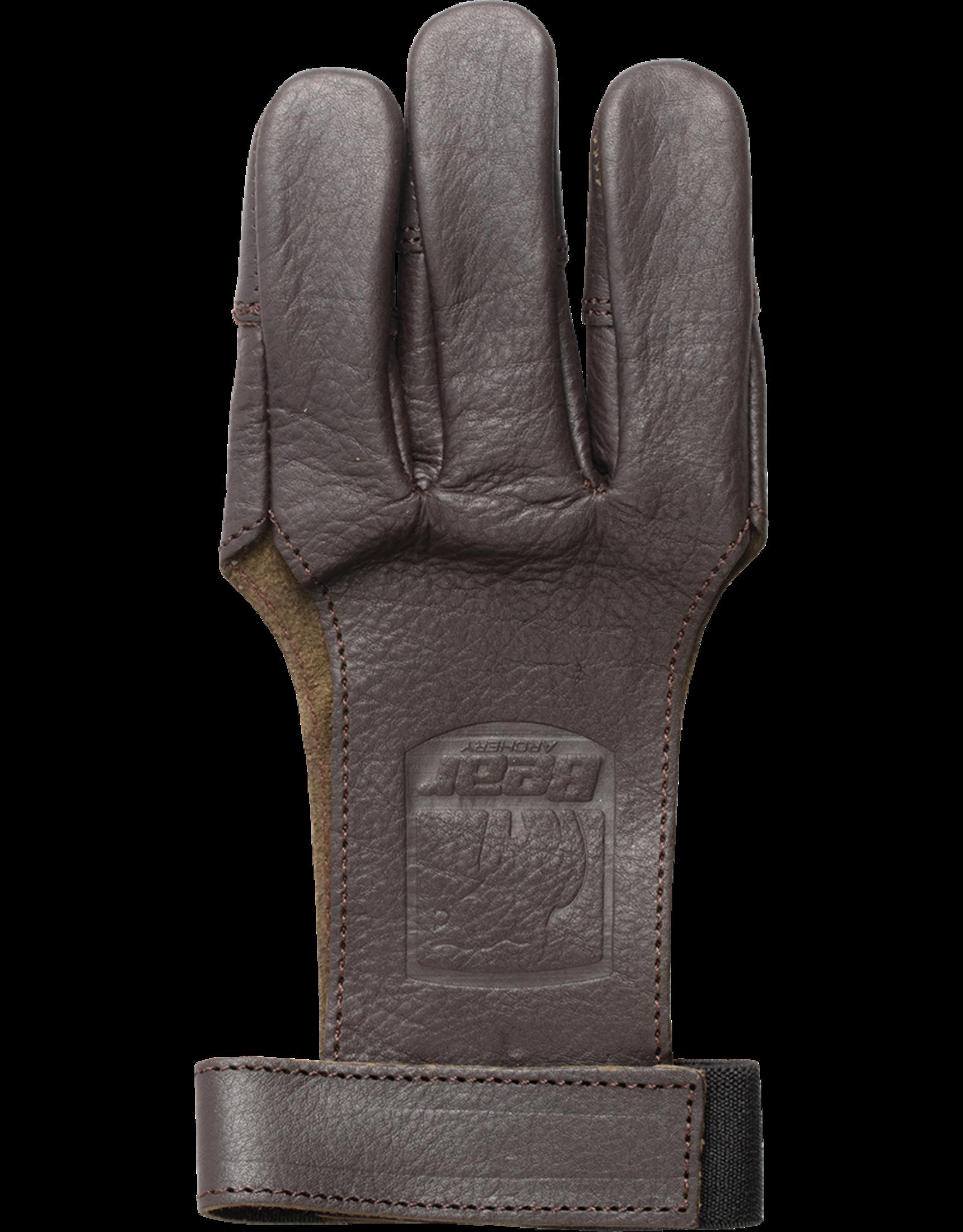 Bear Bear Leather Shooting Gloves x-large