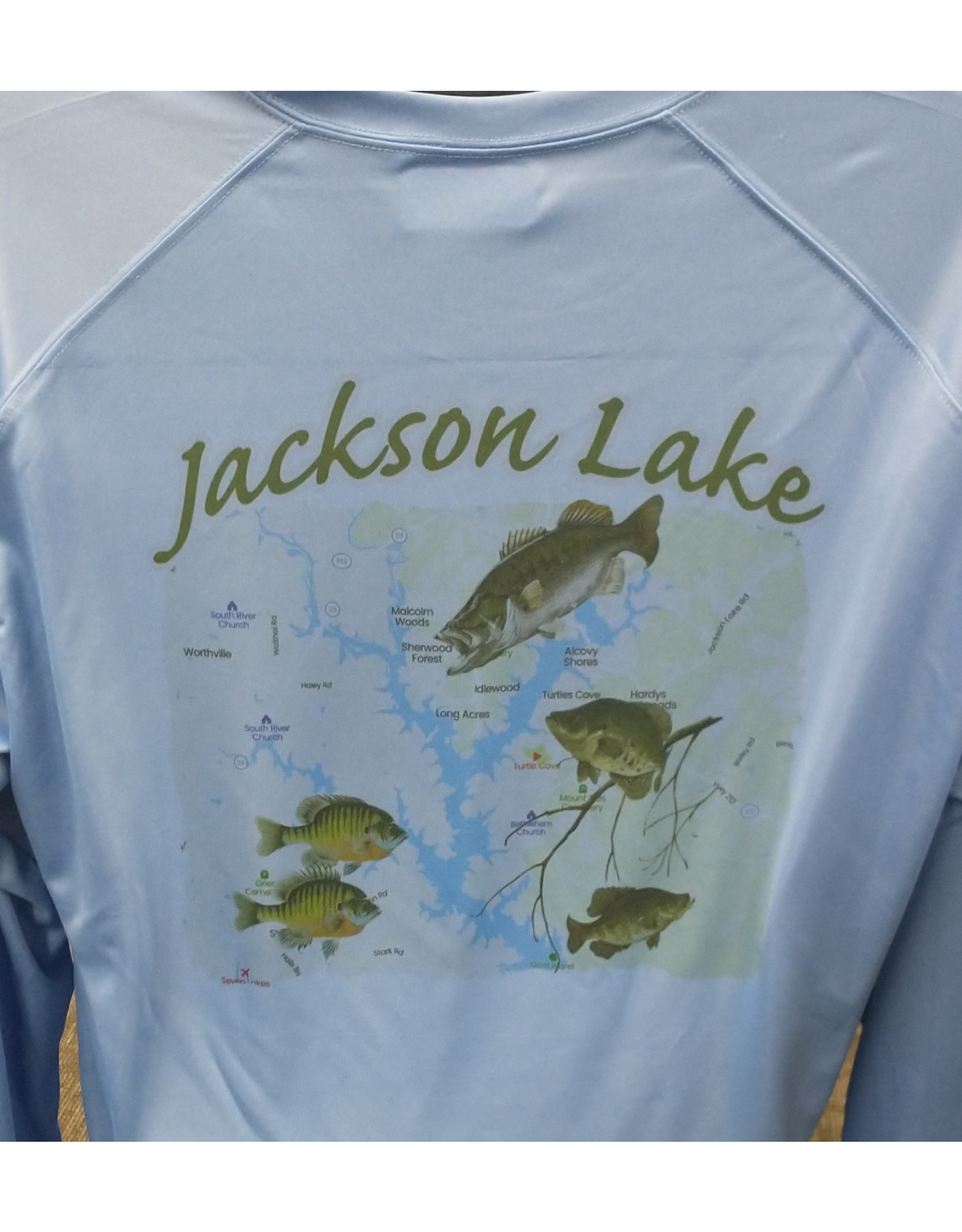 Bob Beale Jackson Lake fishing shirt