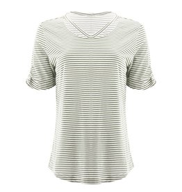 Aventura Green Striped Organic Cotton Top