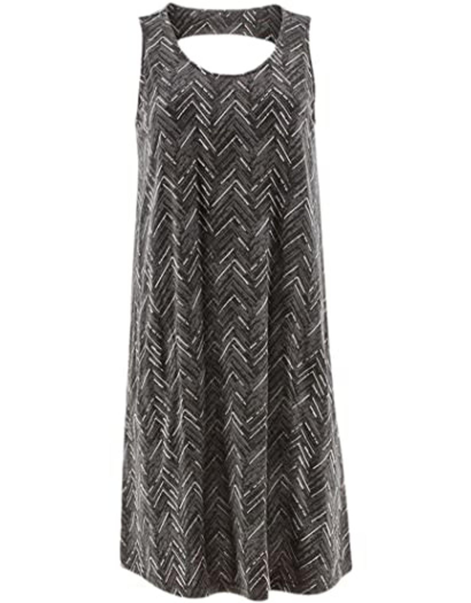 Aventura Black Print Cutout Back Tank Dress