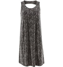 Aventura Black Print Cutout Back Tank Dress