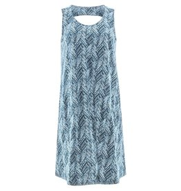 Aventura Navy Print Cutout Back Tank Dress