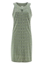 Aventura Green Print Keyhole Neckline Organic Cotton Tank Dress