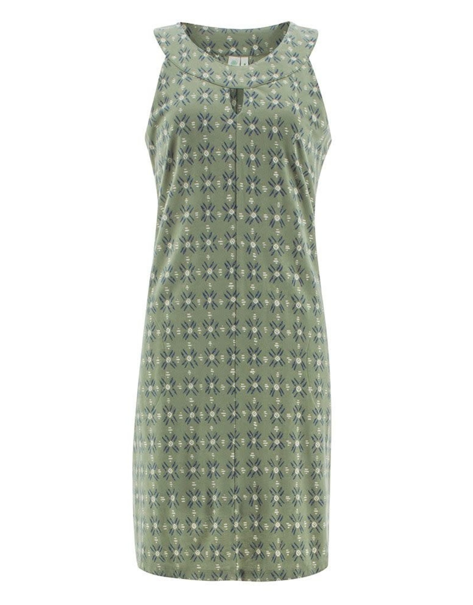 Aventura Green Print Keyhole Neckline Organic Cotton Tank Dress
