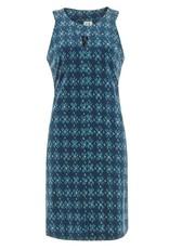Aventura Navy Print Keyhole Neckline Organic Cotton Tank Dress