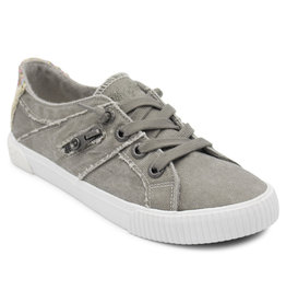 Blowfish Side Zipper Detail Grey Low-Rise Tennis Shoe