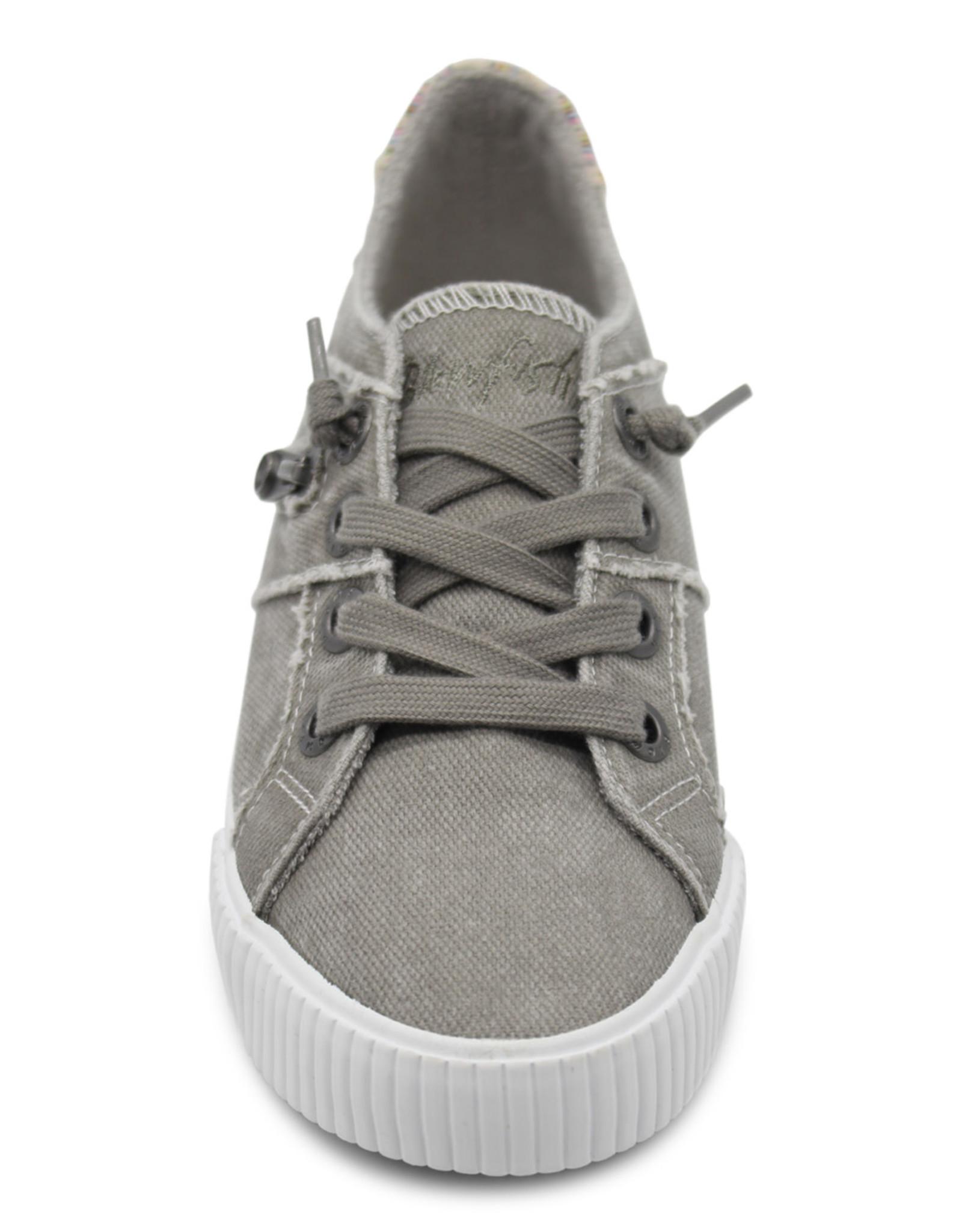 Blowfish Side Zipper Detail Grey Low-Rise Tennis Shoe