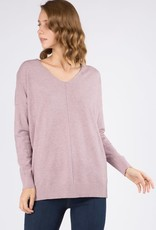 - Lavender V Neck Sweater