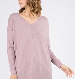 - Lavender V Neck Sweater
