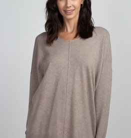 - Mocha V Neck Sweater