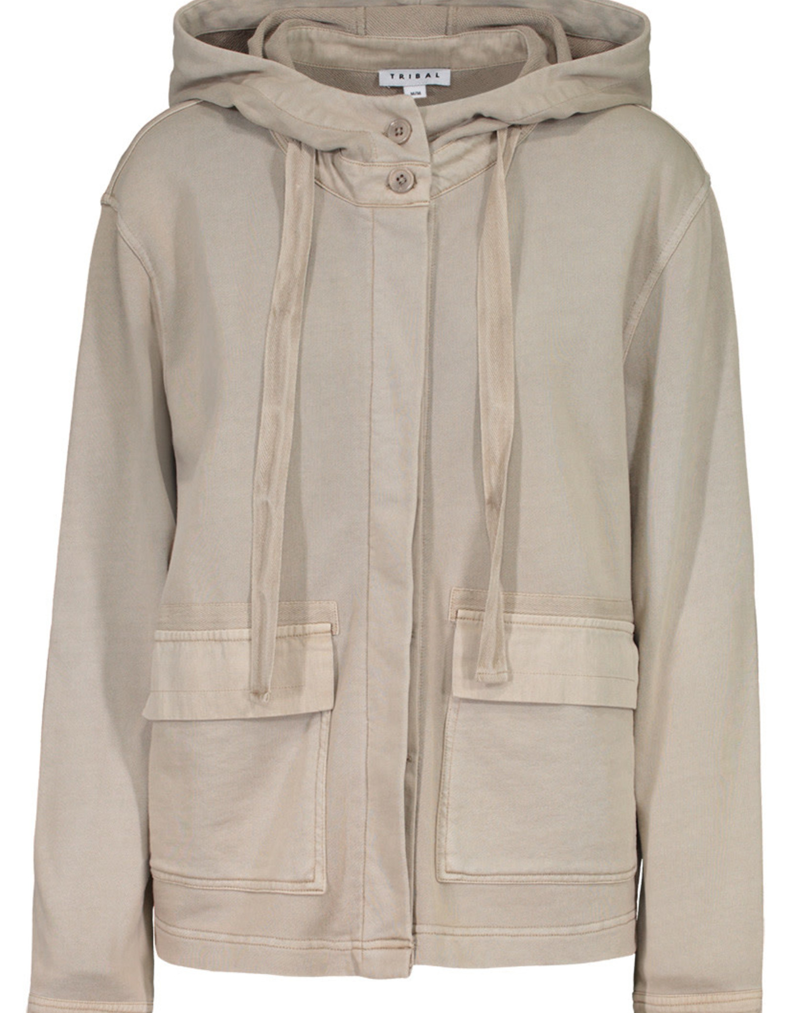 Tribal Khaki Hooded Jacket w/Pockets
