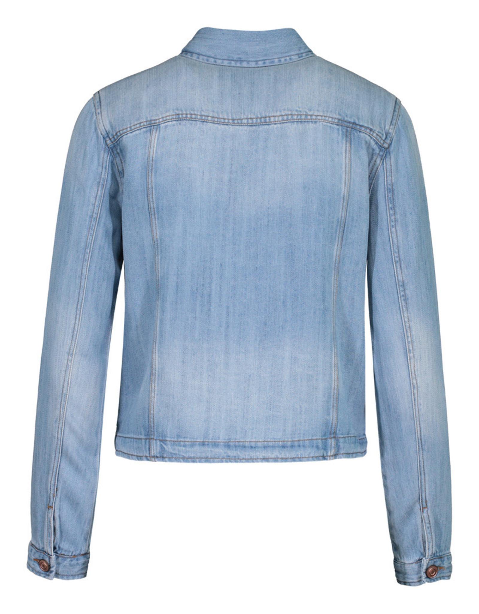 Tribal Light Wash Denim Jacket w/Pockets