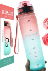 Coral/Mint Insulated 24oz Water Bottle