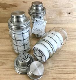 Mason Jar Cocktail Shaker Set w/Bar Towel