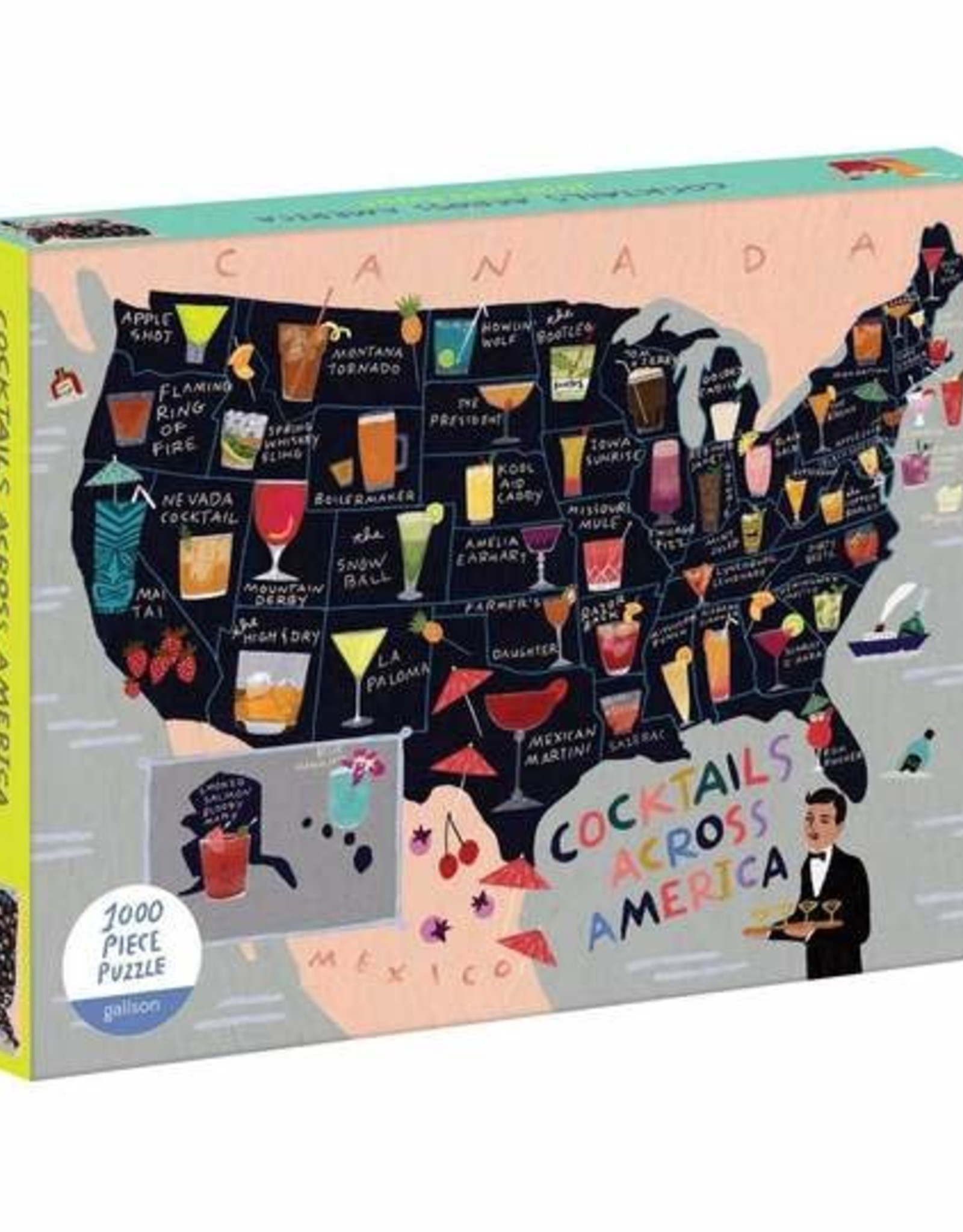 Cocktails Across America 1000pc. Puzzle