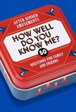 How Well Do You Know Me Game Cards