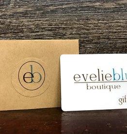 - $75 Evelie Blu Gift Card