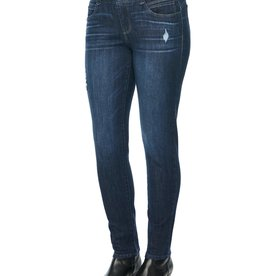 Democracy Indigo Skinny Jean w/Destruct