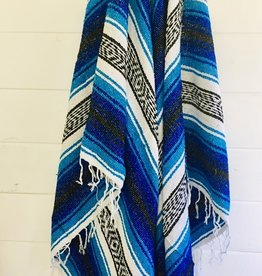 - Blue/White Throw Blanket