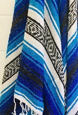 - Blue/White Throw Blanket