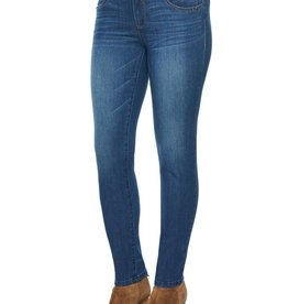 Democracy Medium Wash Skinny Jean w/Whiskering