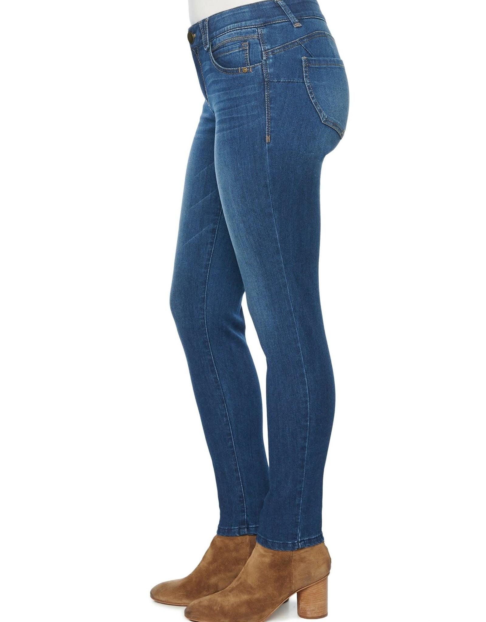 Democracy Medium Wash Skinny Jean w/Whiskering