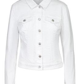 Tribal White Stretch Denim Jacket