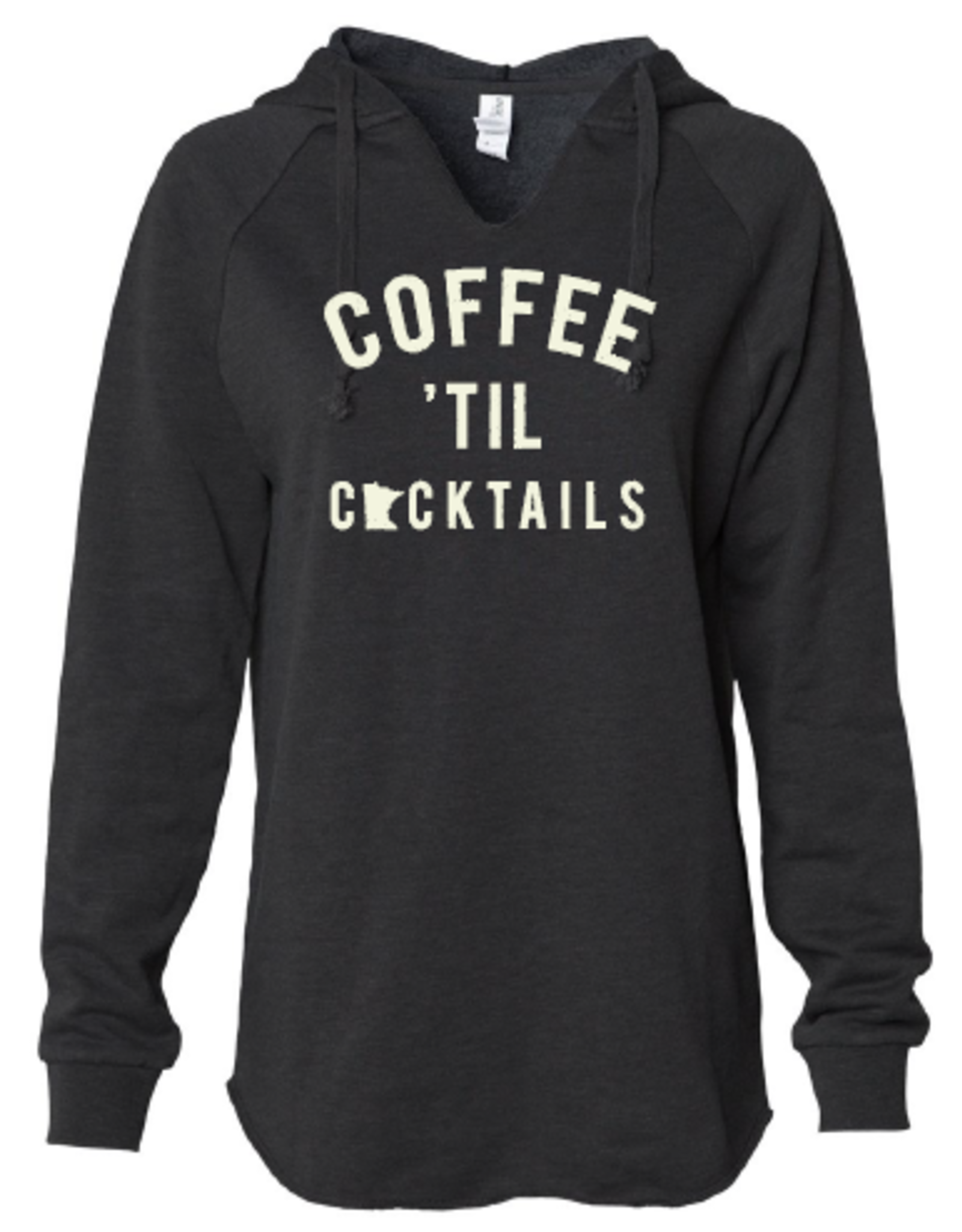 "Black ""Coffee Til' Cocktails"" Sweatshirt"