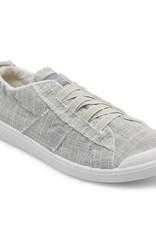 Blowfish Ribbed Canvas Light Grey Elastic Band Tennis Shoe
