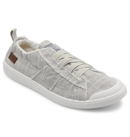 Blowfish Ribbed Canvas Light Grey Elastic Band Tennis Shoe