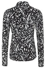 Tribal Black/Tan/White Animal Print  Zip-Up Jacket