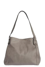 Grey Tote w/Middle Zipper