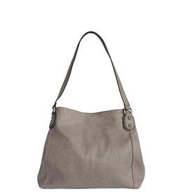Grey Tote w/Middle Zipper