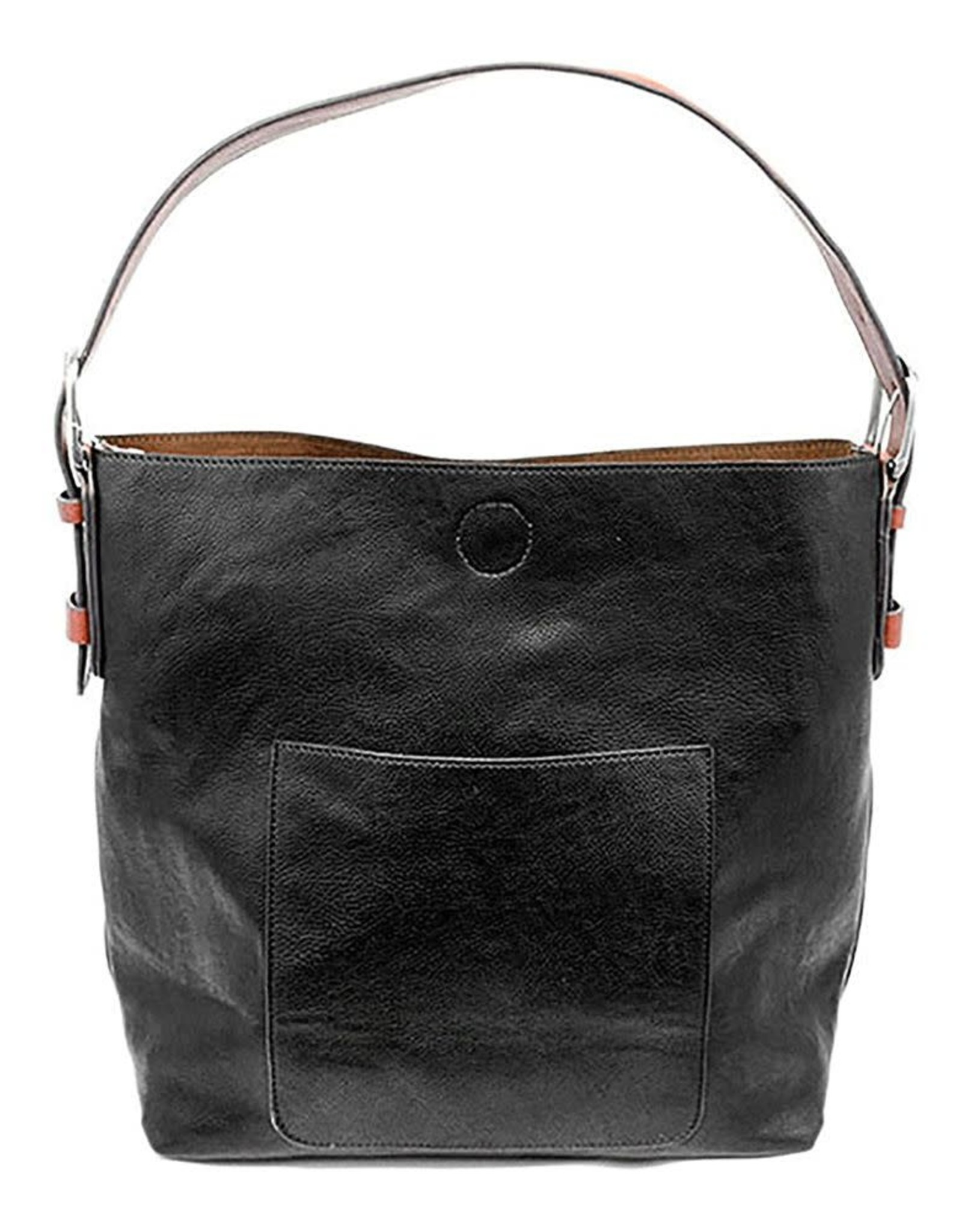 - Black Hobo Handbag w/Cedar Handle