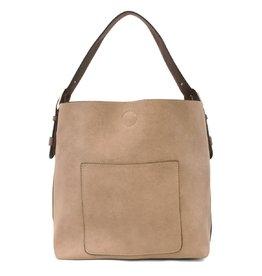 - Heather Grey Hobo Handbag w/Coffee Handle