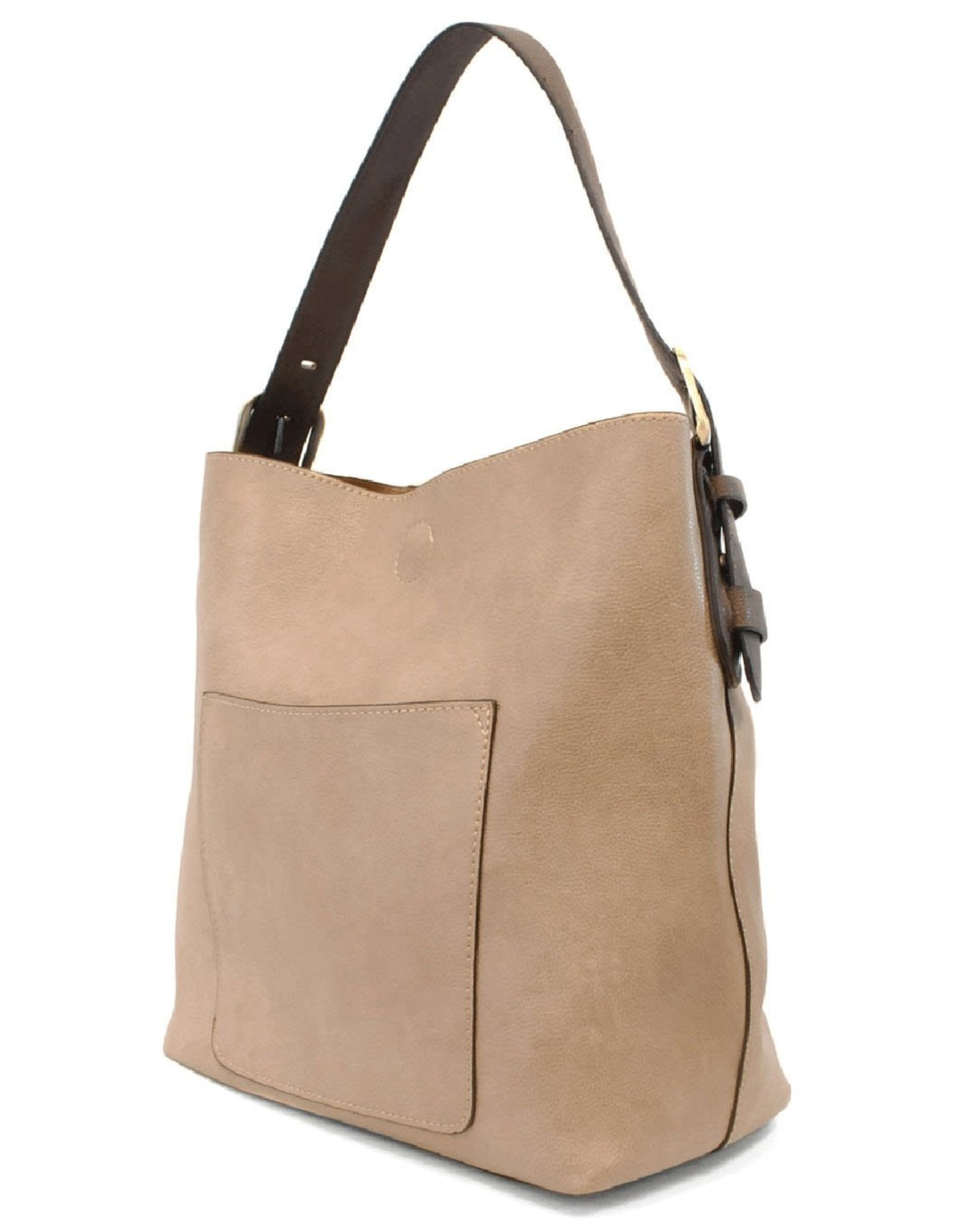 - Heather Grey Hobo Handbag w/Coffee Handle
