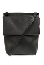 Black Front Flap Crossbody Bag