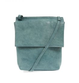 Turquoise Front Flap Crossbody Bag